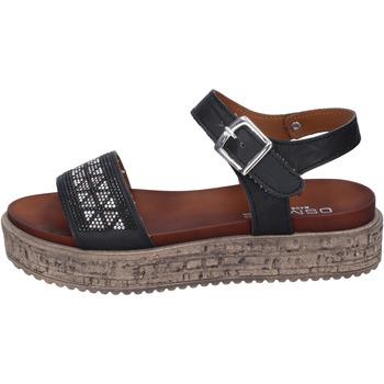 Boty Ženy Sandály Osmose sandali pelle sintetica strass Nero