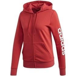 Textil Ženy Mikiny adidas Originals Essentials Linear FZ Hoodie Červené