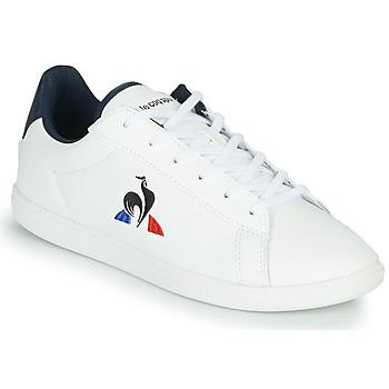 Boty Děti Nízké tenisky Le Coq Sportif COURTSET GS Bílá / Modrá