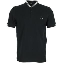 Textil Muži Polo s krátkými rukávy Fred Perry Bomber Collar Polo Shirt Černá