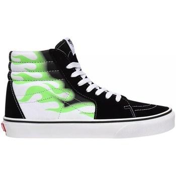 Boty Ženy Kotníkové tenisky Vans SK8HI Flame Bílé,Černé,Zelené