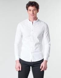 Textil Muži Košile s dlouhymi rukávy Yurban MASS Bílá