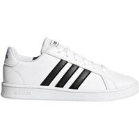 Boty Muži Nízké tenisky adidas Originals Grand Court K Bílé,Černé
