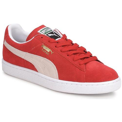 Boty Muži Nízké tenisky Puma SUEDE CLASSIC + Červená / Bílá