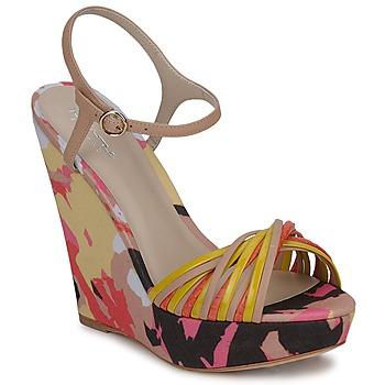 Boty Ženy Sandály Bourne KARMEL Béžová / Vícebarevná