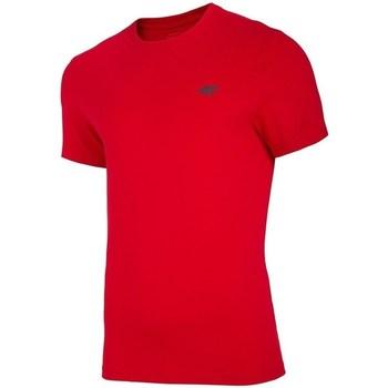 Textil Muži Trička s krátkým rukávem 4F TSM003 Červené