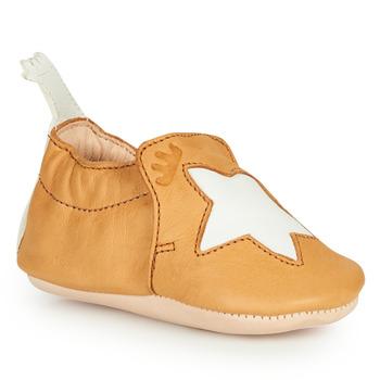 Boty Děti Papuče Easy Peasy BLUMOO ETOILE Zlatohnědá