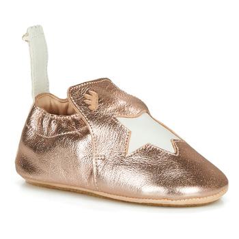 Boty Dívčí Papuče Easy Peasy BLUBLU ETOILE Růžová / Zlatá