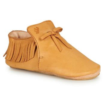 Boty Děti Papuče Easy Peasy MEXIBLU Zlatohnědá