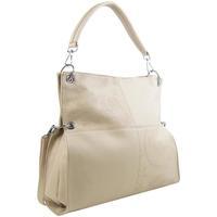 Taška Ženy Tašky přes rameno Bella Belly Velká libovolně nositelná dámská kabelka 5381-BB krémová béžová