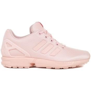 Boty Děti Šněrovací polobotky  & Šněrovací společenská obuv adidas Originals ZX Flux J Růžové