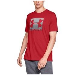 Textil Muži Trička s krátkým rukávem Under Armour Boxed Sportstyle Červené