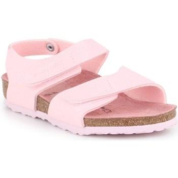 Boty Děti Šněrovací polobotky  & Šněrovací společenská obuv Birkenstock Palu Kids Logo Růžové