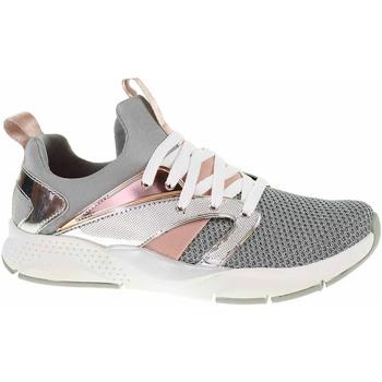 Boty Dívčí Nízké tenisky Skechers Shine Status silver Stříbrná