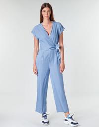 Textil Ženy Overaly / Kalhoty s laclem Vero Moda VMLAURA Modrá / Světlá