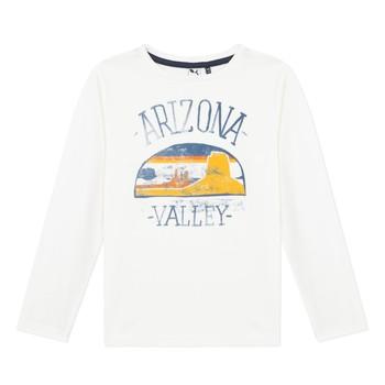 Textil Chlapecké Trička s dlouhými rukávy 3 Pommes 3R10005-19-C Bílá