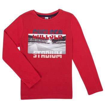 Textil Chlapecké Trička s dlouhými rukávy 3 Pommes 3R10015-37-C Červená