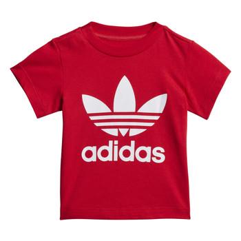 Textil Děti Trička s krátkým rukávem adidas Originals TREFOIL TEE Červená