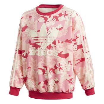 Textil Dívčí Mikiny adidas Originals CREW Růžová