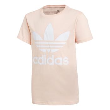 Textil Dívčí Trička s krátkým rukávem adidas Originals TREFOIL TEE Růžová