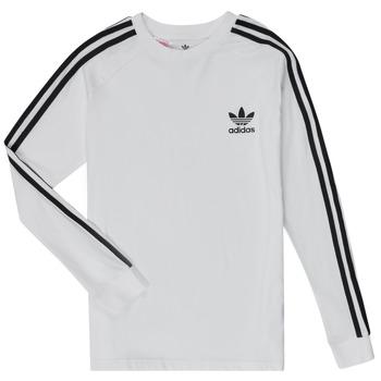 Textil Chlapecké Trička s dlouhými rukávy adidas Originals 3STRIPES LS Bílá