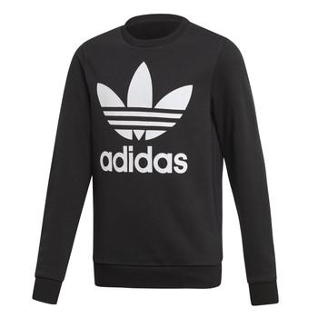Textil Děti Mikiny adidas Originals TREFOIL CREW Černá
