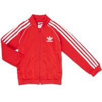 Textil Chlapecké Teplákové bundy adidas Originals SST TRACKTOP Červená