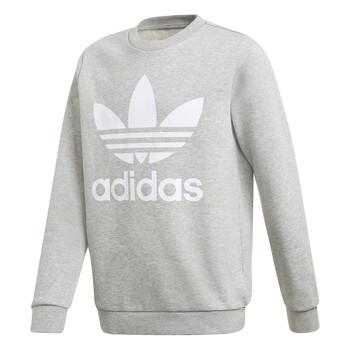 Textil Chlapecké Mikiny adidas Originals TREFOIL CREW Šedá