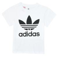 Textil Děti Trička s krátkým rukávem adidas Originals TREFOIL TEE Bílá