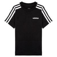 Textil Chlapecké Trička s krátkým rukávem adidas Performance YB E 3S TEE Černá