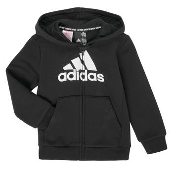 Textil Chlapecké Mikiny adidas Performance B MH BOS FZ FL Černá