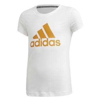 Textil Dívčí Trička s krátkým rukávem adidas Performance YG MH BOS TEE Bílá
