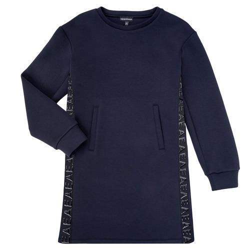 Textil Dívčí Krátké šaty Emporio Armani 6H3A07-1JDSZ-0920 Tmavě modrá