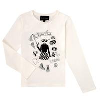 Textil Dívčí Trička s dlouhými rukávy Emporio Armani 6H3T01-3J2IZ-0101 Bílá
