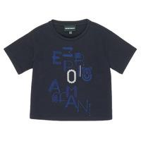 Textil Dívčí Trička s krátkým rukávem Emporio Armani 6H3T7R-2J4CZ-0926 Tmavě modrá