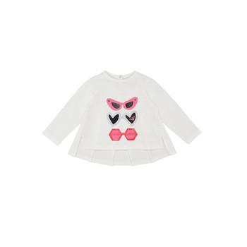 Textil Dívčí Trička s dlouhými rukávy Emporio Armani 6HEM01-3J2IZ-0101 Bílá