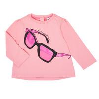 Textil Dívčí Trička s dlouhými rukávy Emporio Armani 6HET02-3J2IZ-0315 Růžová