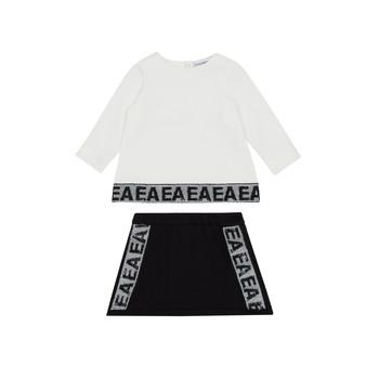 Textil Dívčí Set Emporio Armani 6HEV08-3J3PZ-0101 Bílá / Černá