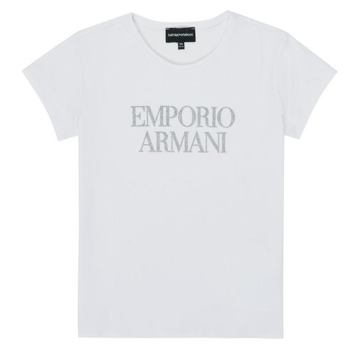 Textil Dívčí Trička s krátkým rukávem Emporio Armani 8N3T03-3J08Z-0100 Bílá