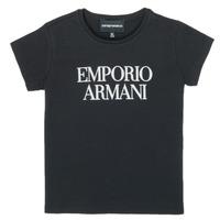 Textil Dívčí Trička s krátkým rukávem Emporio Armani 8N3T03-3J08Z-0999 Černá
