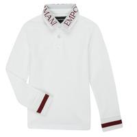 Textil Chlapecké Polo s dlouhými rukávy Emporio Armani 6H4FJ4-1J0SZ-0101 Bílá