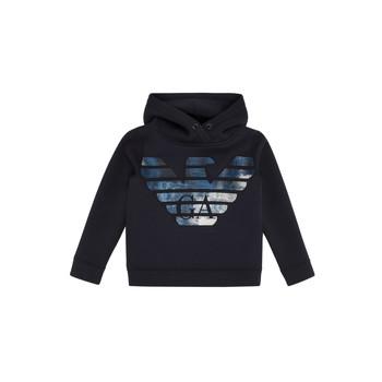 Textil Chlapecké Mikiny Emporio Armani 6H4MA9-1JDSZ-0920 Tmavě modrá
