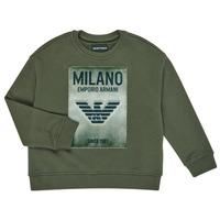 Textil Chlapecké Mikiny Emporio Armani 6H4MM1-4J3BZ-0564 Khaki