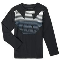 Textil Chlapecké Trička s dlouhými rukávy Emporio Armani 6H4T17-1J00Z-0999 Modrá