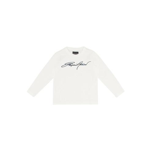 Textil Chlapecké Trička s dlouhými rukávy Emporio Armani 6H4TJN-1JTUZ-0101 Bílá