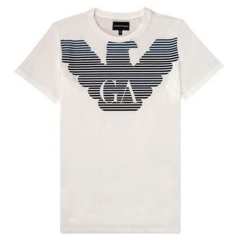 Textil Chlapecké Trička s krátkým rukávem Emporio Armani 6H4TQ7-1J00Z-0101 Bílá