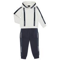 Textil Chlapecké Teplákové soupravy Emporio Armani 6H4V02-1JDSZ-0101 Tmavě modrá / Bílá
