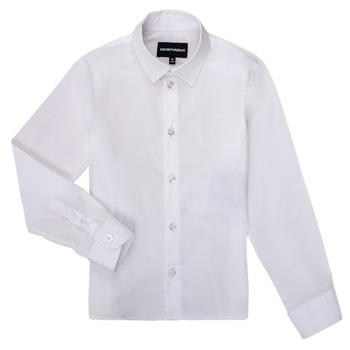 Textil Chlapecké Košile s dlouhymi rukávy Emporio Armani 8N4CJ0-1N06Z-0100 Bílá