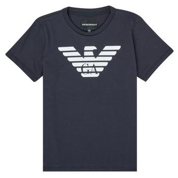 Textil Chlapecké Trička s krátkým rukávem Emporio Armani 8N4T99-1JNQZ-0939 Tmavě modrá