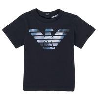 Textil Chlapecké Trička s krátkým rukávem Emporio Armani 6HHTA9-1JDXZ-0920 Tmavě modrá